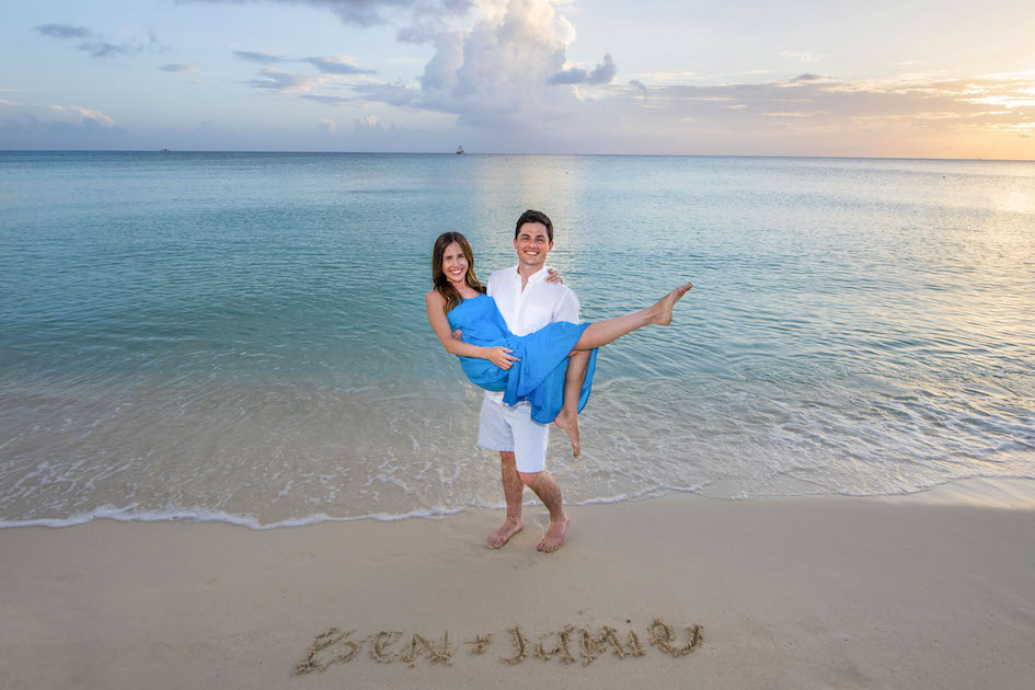 Sunset engagement shoot with Ben and Jamie, Cayman Islands.