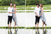 Alex & Najib in the rice field, Pererenan, Bali. Check out more photos from Alex & Najib.