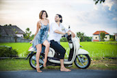 Fun on the motorbike, Pererenan, Bali. Check out more photos from Alex & Najib.