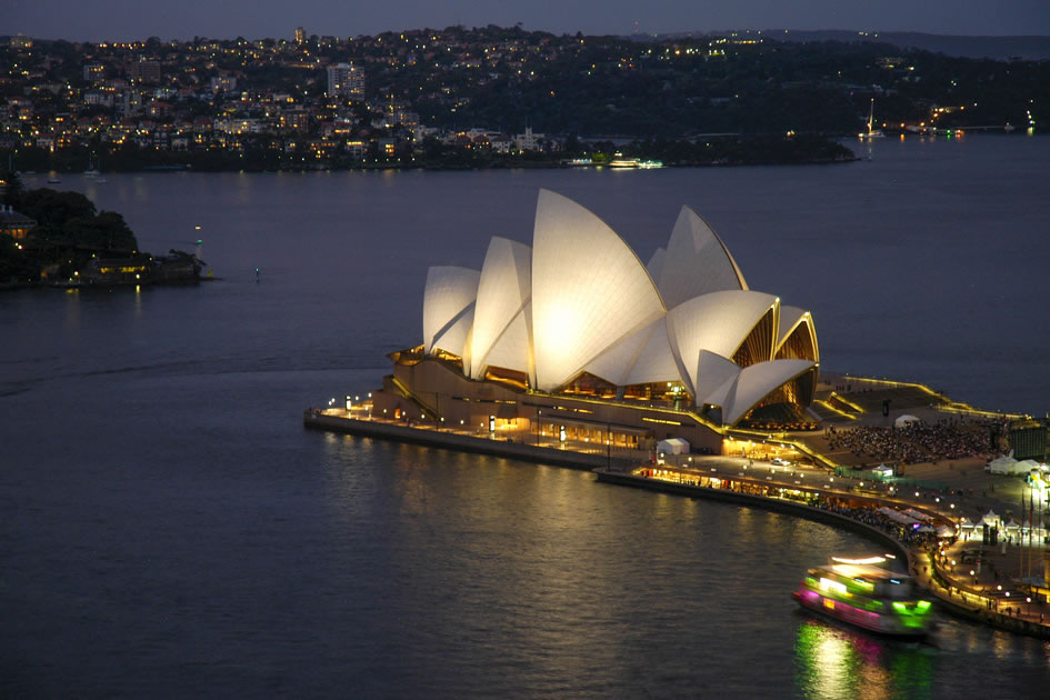 The Opera House at dusk, Sydney