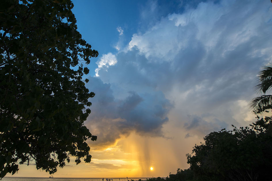 Stormy summer sunset at Smiths Barcadere, Grand Cayman