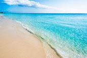 Blue water of the Caribbean Sea, 7-Mile Beach, Grand Cayman