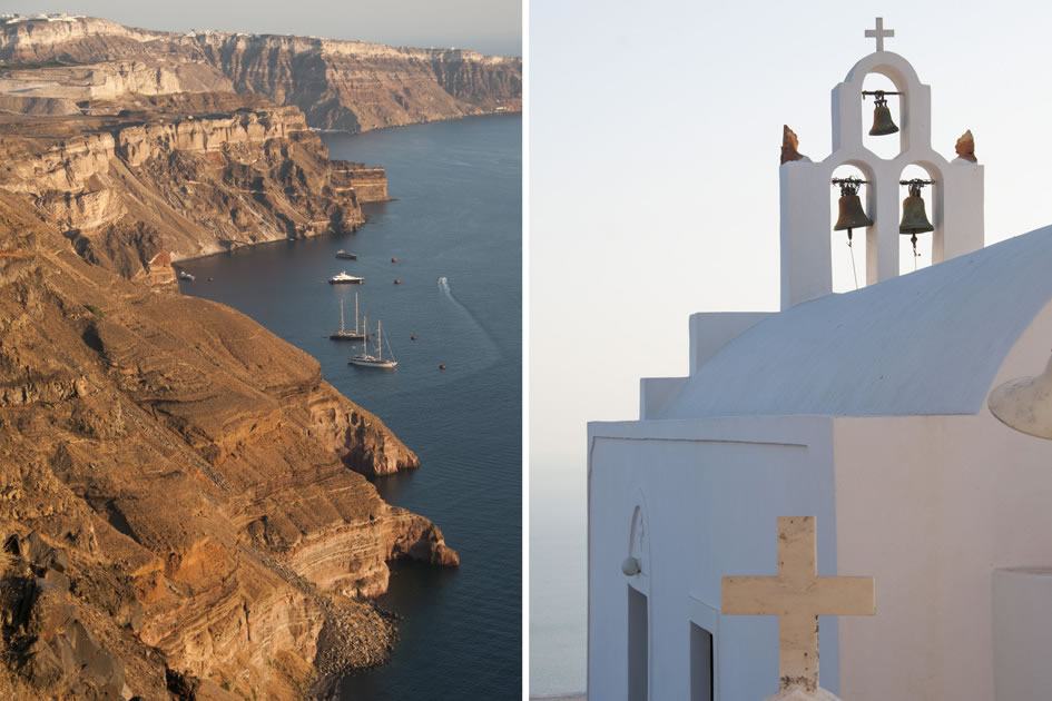 View in Imerovigli - Oia Church, Santorini