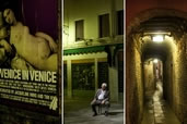 Venice streets by night