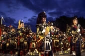 Bagpipers at the Tattoo, Edinburgh