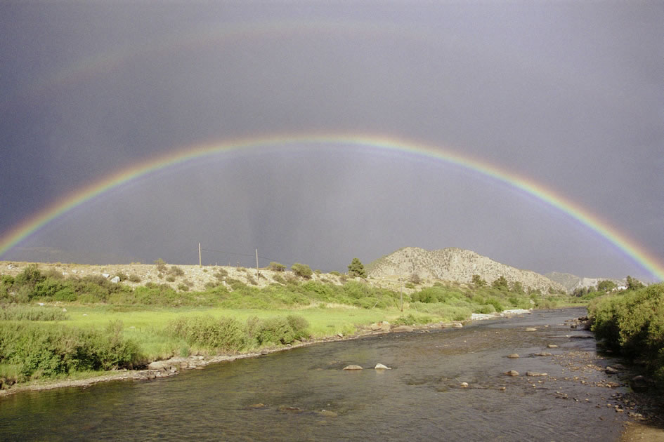Rainbow over the Arkansas River