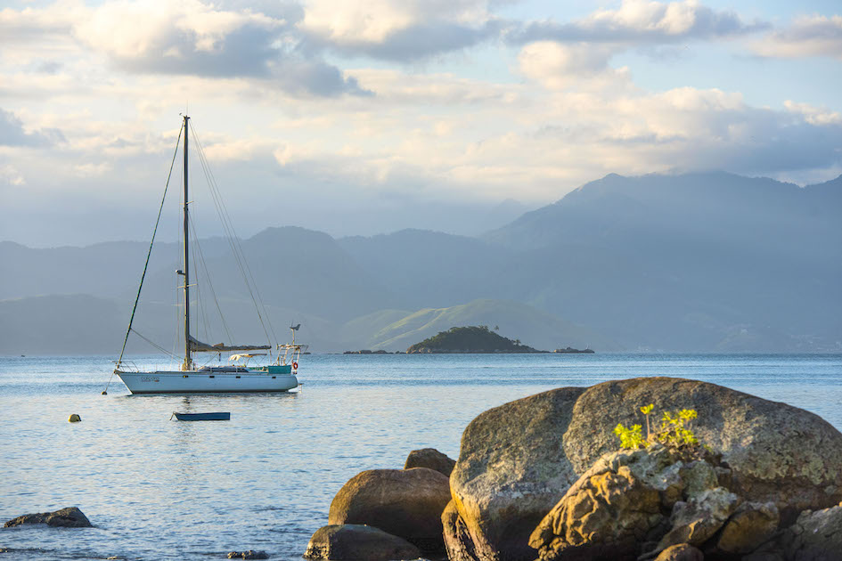 The harbor on Ilha Grande is filled with gorgeous sailing boats. More on Ilha Grande here.