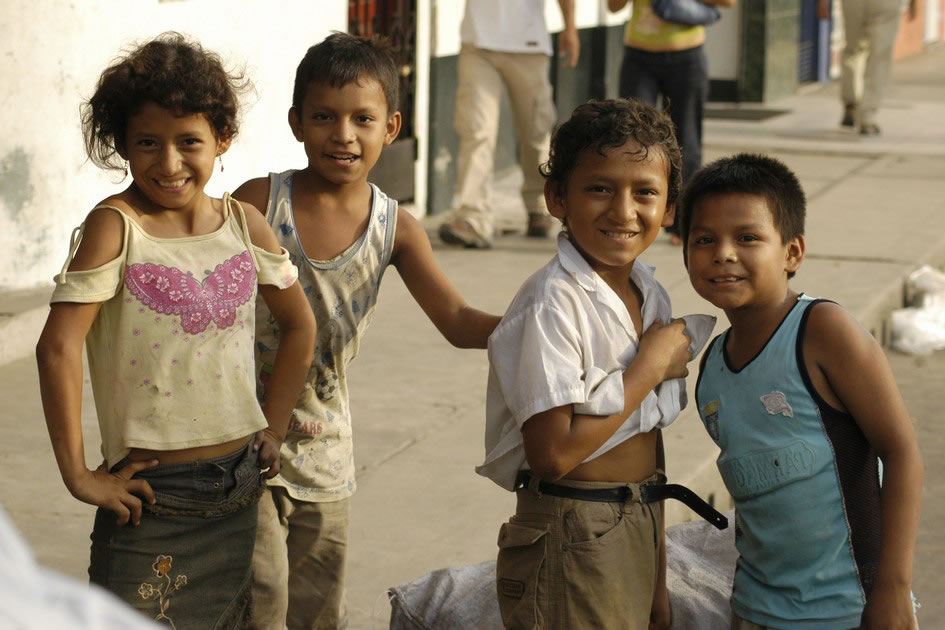 Children in the streets of Iquitos