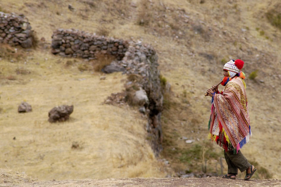 Andean Pan Flute Player, Pisac