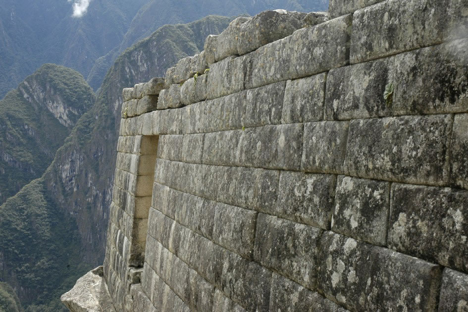 Original building at Machu Picchu
