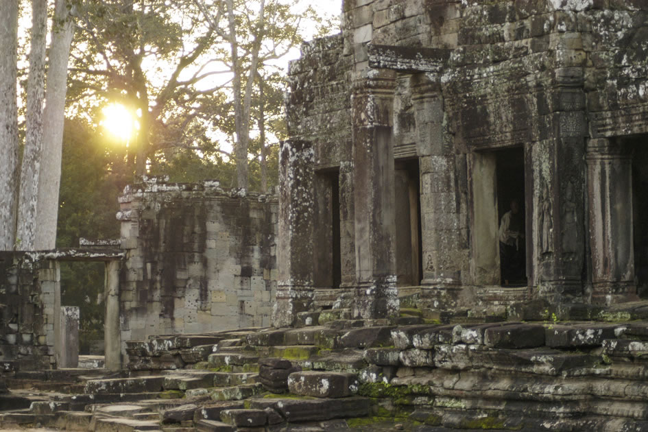 The Bayon Temple at dawn, Siem Reap