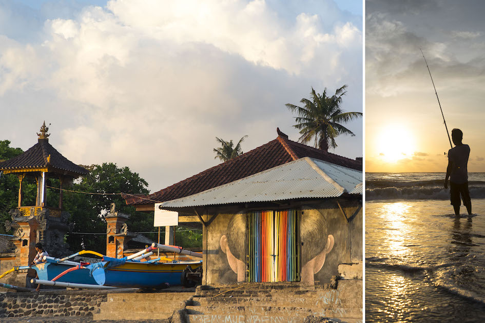 The fishing village of Berawa in the middle of bustling Canggu, Bali