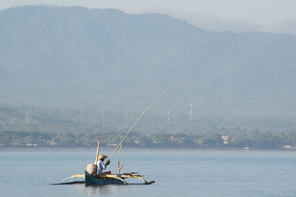 Fisherman in the Morning, Lovina, Bali