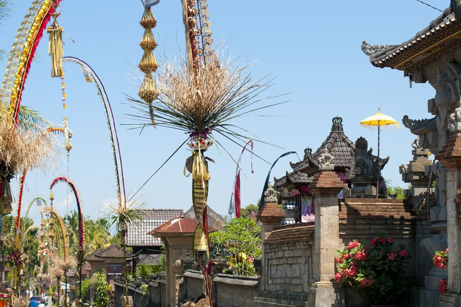 Street Decorations for Galungan & Kuningan, Ubud
