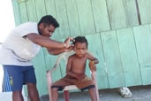 Haircut, Raja Ampat, West Papua