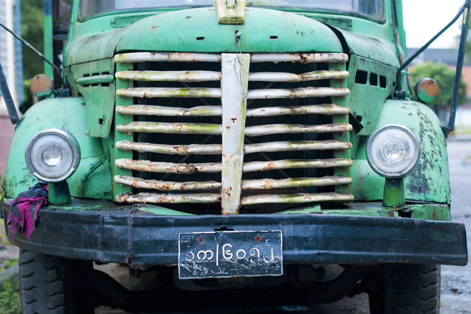 Old truck on the streets of Yangon