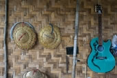 Items hanging on the wall, Inle Lake