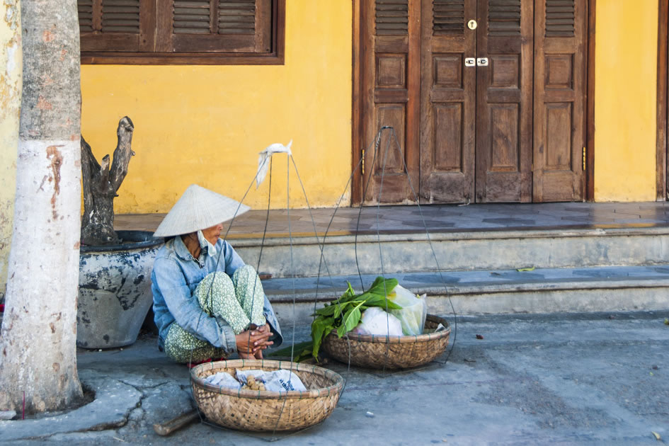 A quiet moment on the streets of Hoi An