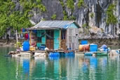 Floating house, Halong Bay